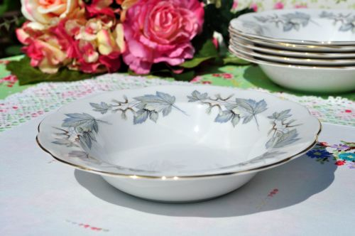Royal Albert Silver Maple Dessert Dish or Soup Bowl  c.1960s