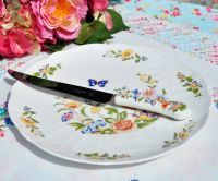 Aynsley Cottage Garden Cake Plate and Knife Set