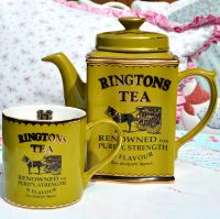 Ringtons Heritage Green Teapot and Mug