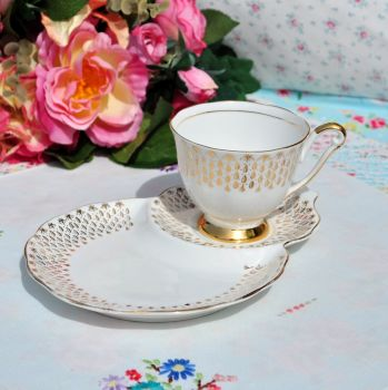 Queen Anne Gold Filigree Tennis Set