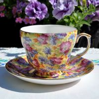 Royal Winton Breakfast Teacup and Saucer