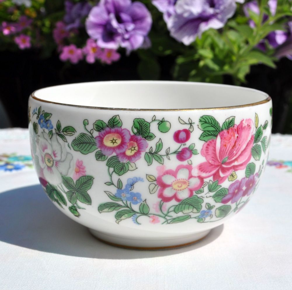 Crown Staffordshire Thousand Flowers Open Sugar Bowl c.1930+