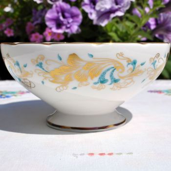 Coalport Strange Orchid Bone China Sugar Bowl