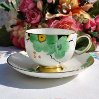 Paragon Art Deco Hand Painted F1997 Teacup and Saucer c.1925+