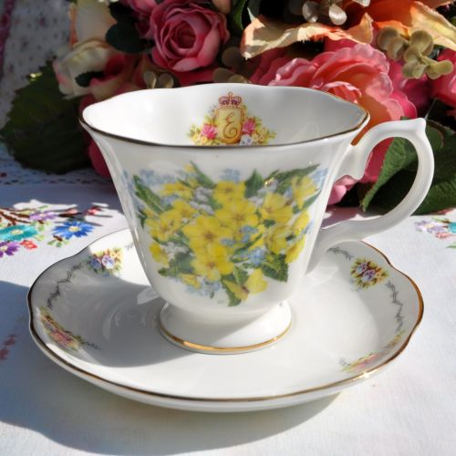 Royal Stratford Primroses Teacup and Saucer