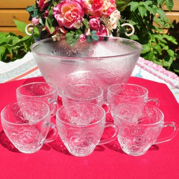 Duralex Tempered Glass Punch Bowl Set
