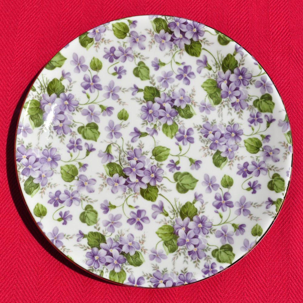 Sheltonian Chintz Violets Side Plate