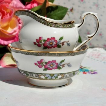 Paragon Tree of Kashmir Vintage Milk Jug and Sugar Bowl