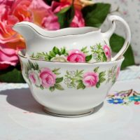 Colclough Pink Roses Milk Jug and Sugar Bowl