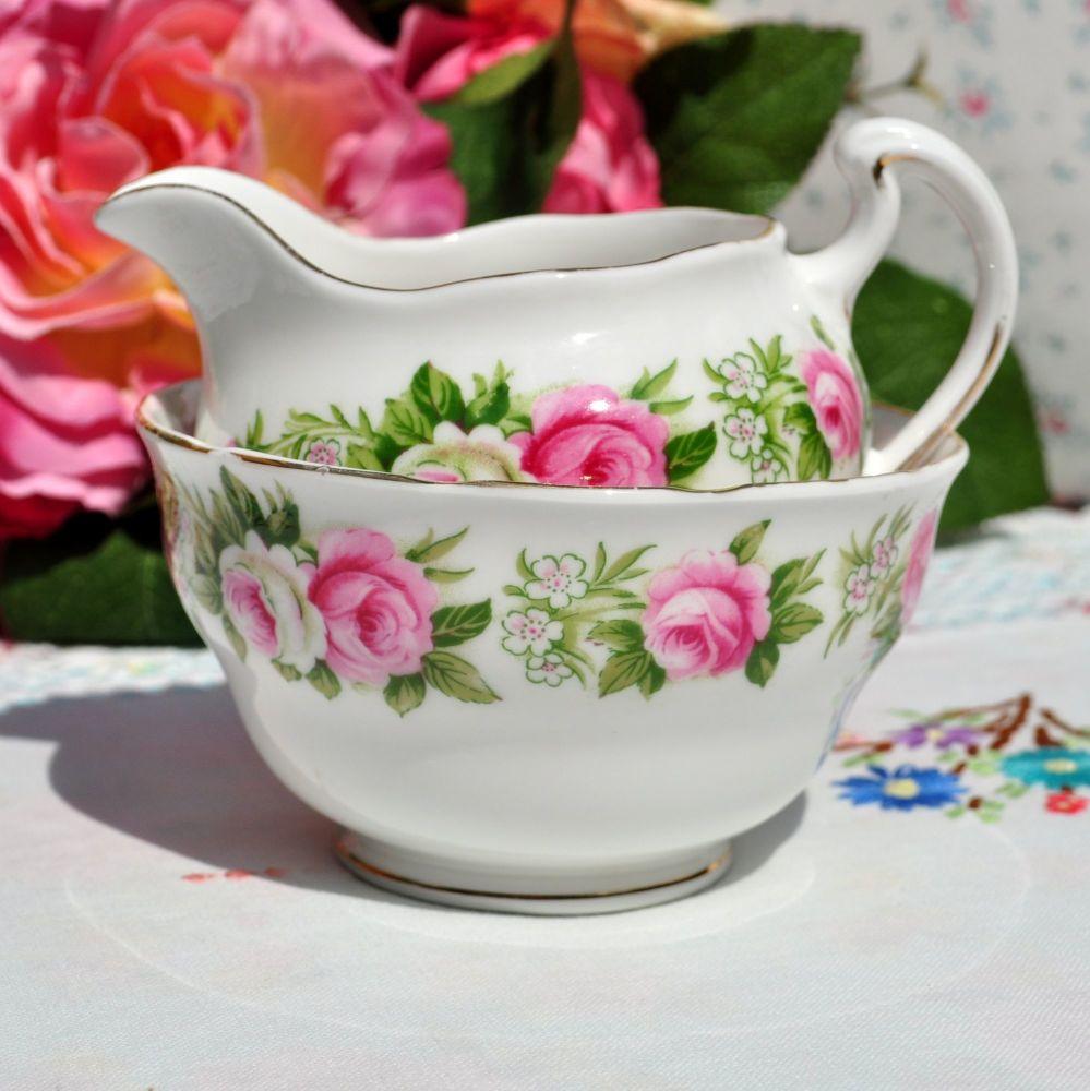 Colclough Enchantment Milk Jug and Sugar Bowl