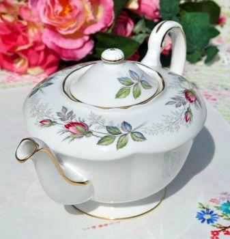 Paragon Bridal Rose Pattern Vintage China Teapot c.1957+
