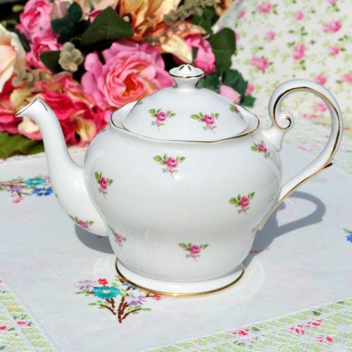 Royal Standard Ditsy Roses Vintage Teapot c.1950's