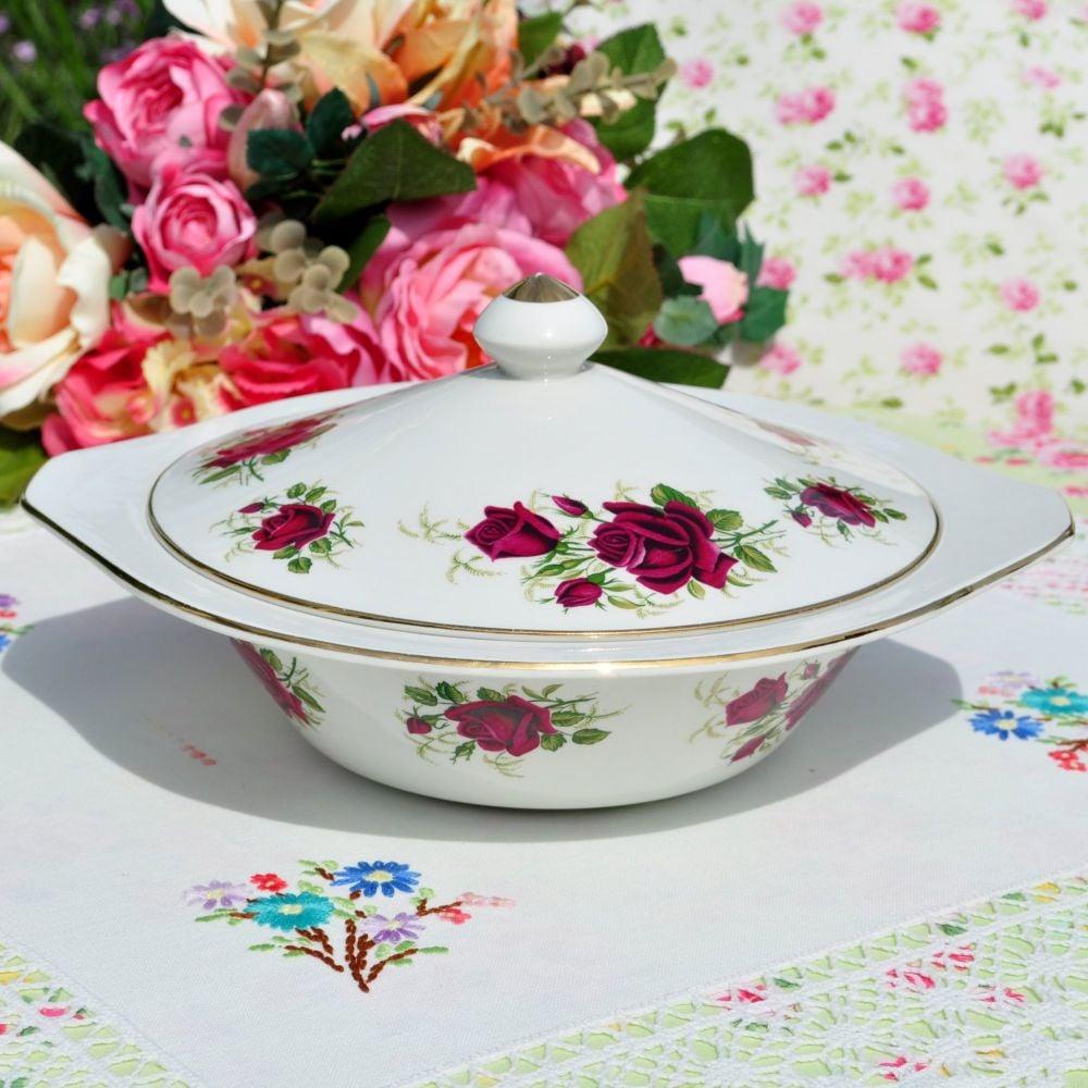 Ridgway Margaret Rose Covered Serving Dish
