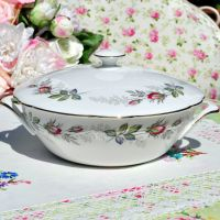 Paragon Bridal Rose Covered Serving Dish c.1957+