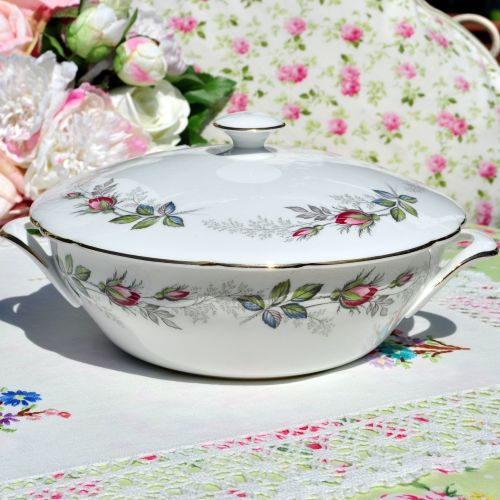 Paragon Bridal Rose Covered Serving Dish c.1957+