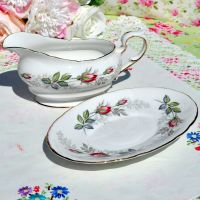 Paragon Bridal Rose Sauce Boat and Stand