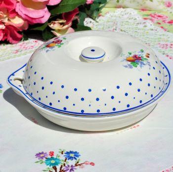 Copeland Spode Polka Dot Food Warming Dish  c.1930's