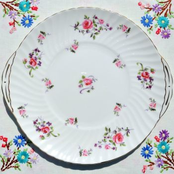 Royal Adderley Fragrance Cake Plate c.1960's