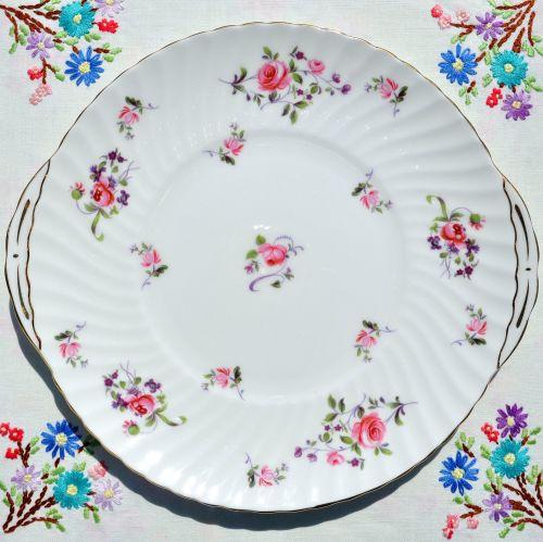 Royal Adderley Fragrance Cake Plate c.1960's