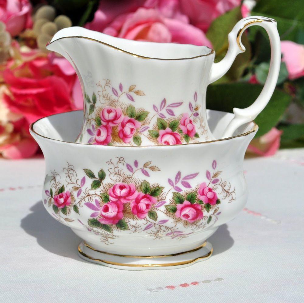 Royal Albert Lavender Rose Small Milk Jug and Sugar Bowl