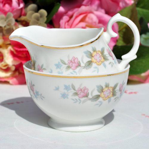 Mayfair Pretty Pastels Small Milk Jug and Sugar Bowl