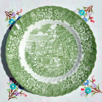 British Anchor Memory Lane Dinner Plate