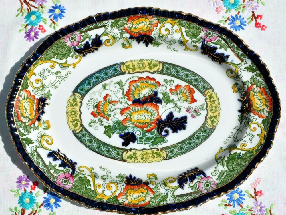 Antique Wood & Son Imari Oval Serving Plate c.1891