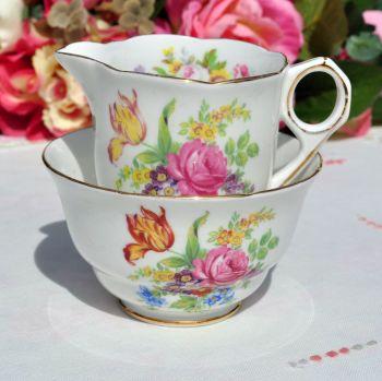 Royal Stafford Small Floral Milk Jug and Sugar Bowl