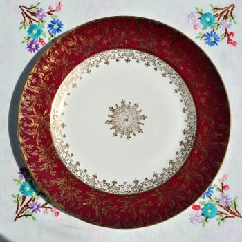 Antique Meakin Sol Red and Gold Dinner Plates c.1912+