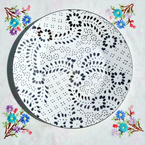 Jasper Conran Embroidered Pattern 23cm Plate