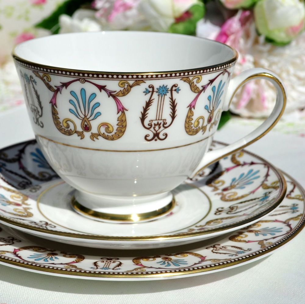 Royal Grafton Regency Jewel Colours Teacup Trio