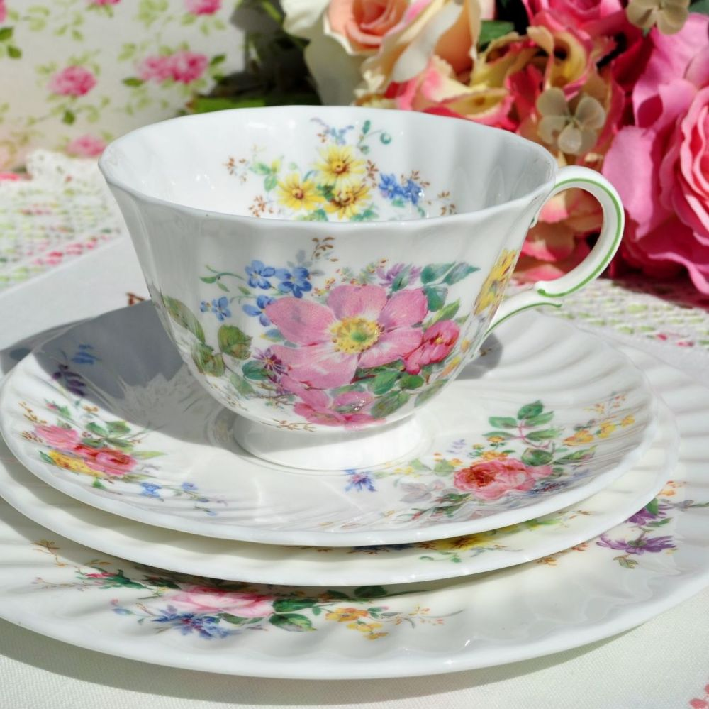 Teacup, saucer, tea plate & salad plate