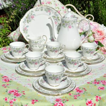 Duchess Victoria 22 Piece Bone China Coffee Set