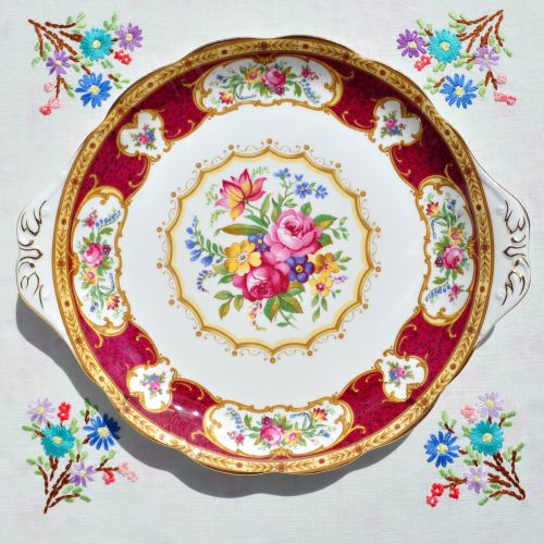 Royal Albert Lady Hamilton Cake Plate c.1960's