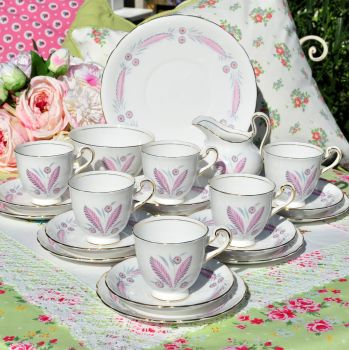 New Chelsea Pretty Pink China Tea Set c.1930s