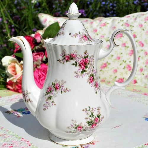 Royal Albert Lavender Rose Tall Teapot c.1960's