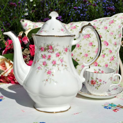 Paragon Royal Albert Victoriana Rose Tall Teapot