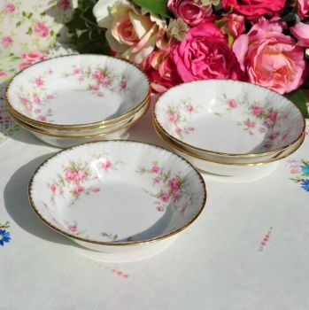 Paragon Victoriana Rose Fruit Dishes Set c.1960's