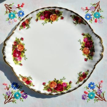 Royal Albert Old Country Roses Cake Plate c.1962+