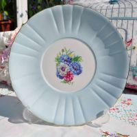 Royal Grafton Cornflower Blue Glazed Cake Plate