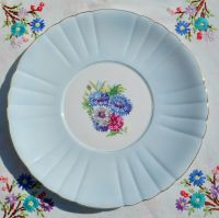 Royal Grafton Cornflower Blue Glazed Cake Plate c.1950s
