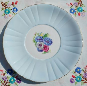 Royal Grafton Cornflower Blue Glazed Cake Plate c.1950s