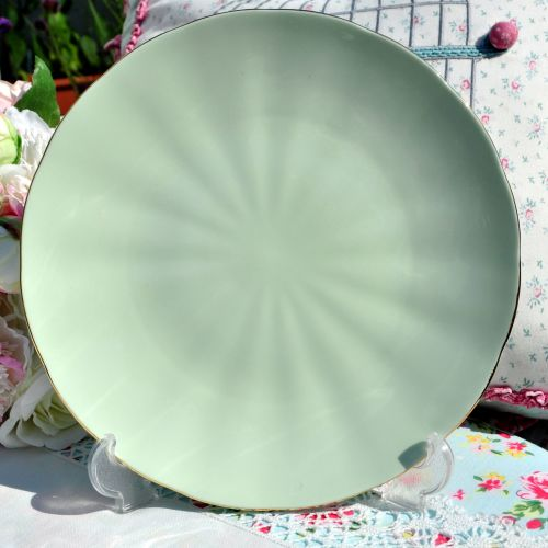 Glade Green Glazed Cake Plate c.1950s