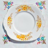 Roslyn China Bracken Cake Plate c.1937-46