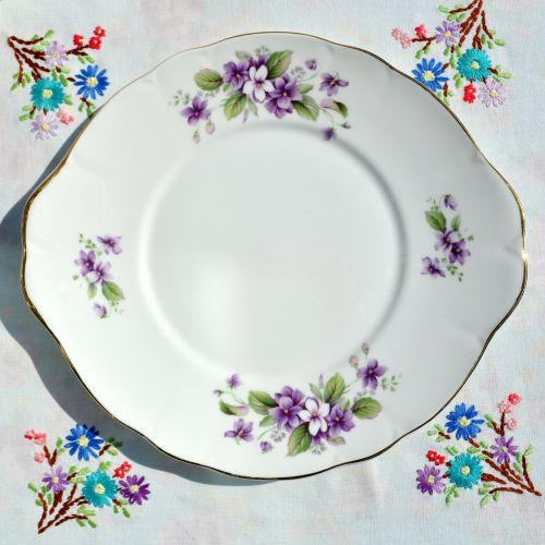 Duchess Tivoli Violets Cake Plate c.1960's