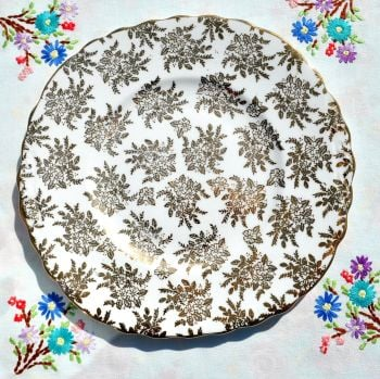 Royal Vale Gold Filigree Cake Plate