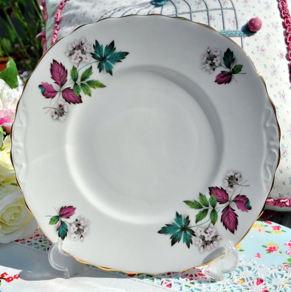 Royal Vale leaves pattern cake plate