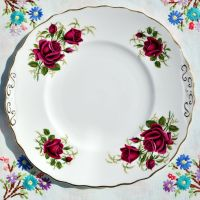 Colclough Red Roses Cake Plate c.1960's