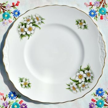 Crown Royal Bridal Flowers Cake Plate c.1960's