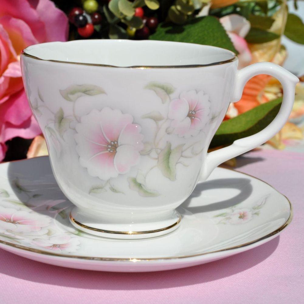Royal Burlington Pink Beauty Teacup and Saucer c.1960s